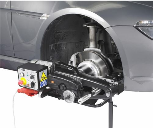 on car brake skimming
